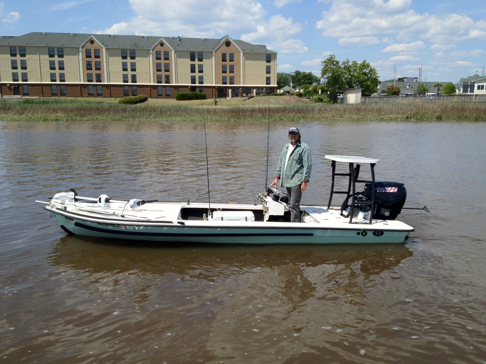 Another excellent boat that we have is a 17 foot beavertail flats